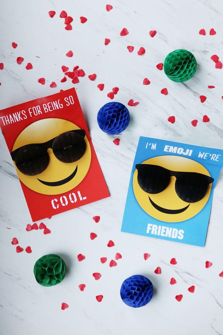 Valentine Emoji Pop-Up Card using Honeycomb balls    Darling Darleen