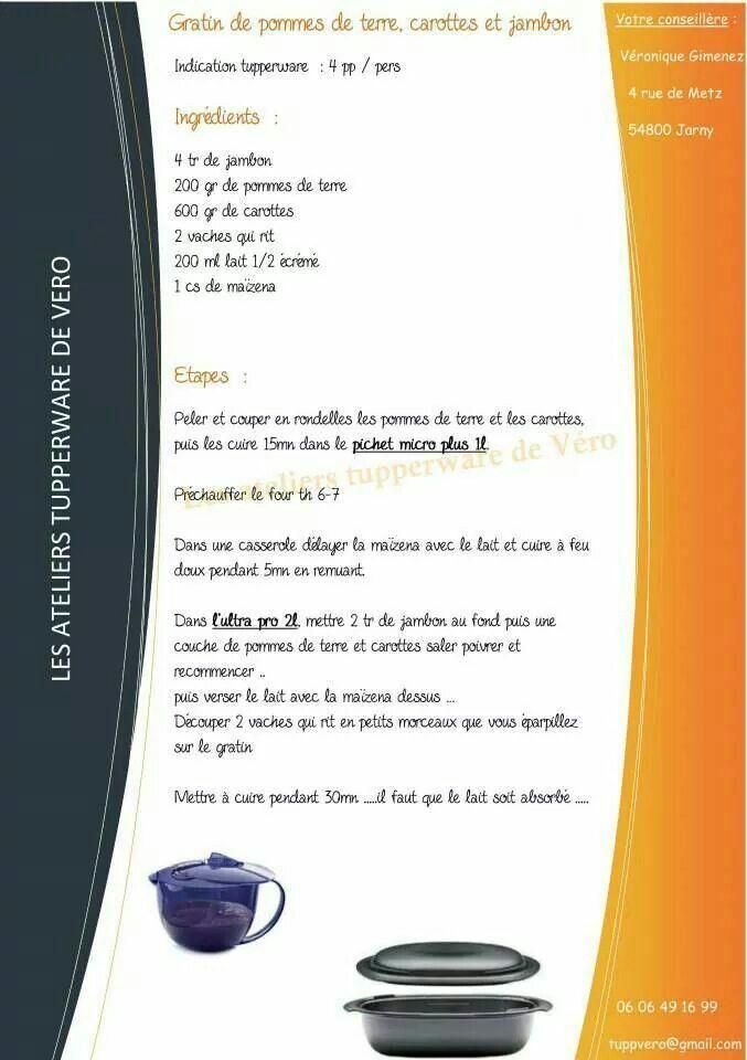 Tupperware - Gratin de pommes de terre, carottes et jambon