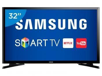 """Smart TV LED 32"""" Samsung UN32J4300 - Conversor Digital Wi-Fi 2 HDMI 1 USB. Compre pelo site por R$ 1.299,00"""