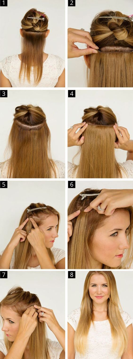 How to DIY Brazilian hair extensions with glue