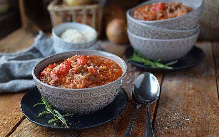 Paprika-Reistopf: Ein Ein-Topf-Gericht