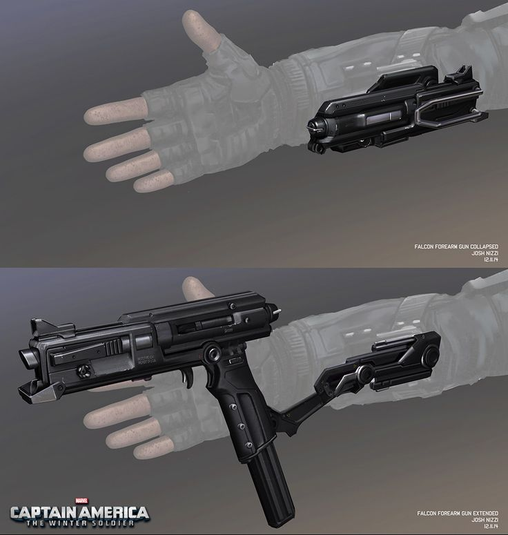 Falcon's collapsible gun. This is awesome please make this happen in real life.