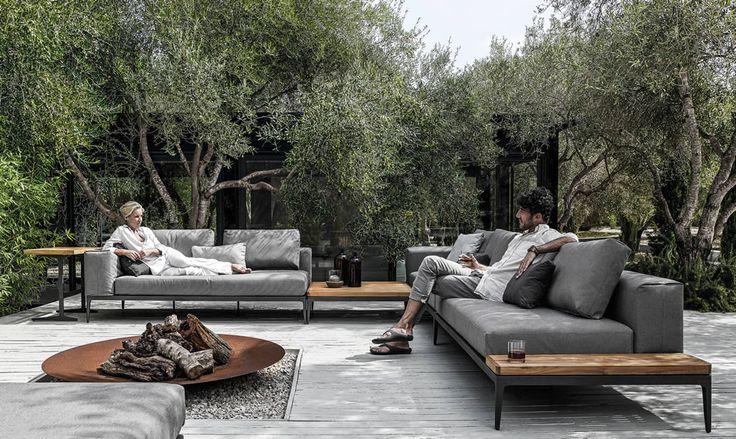 Grid Lounge Sonnenliege | www.drifteshop.com/gloster/grid-lounge-sonnenliege