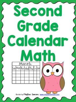 FREE Calendar Math Sheet