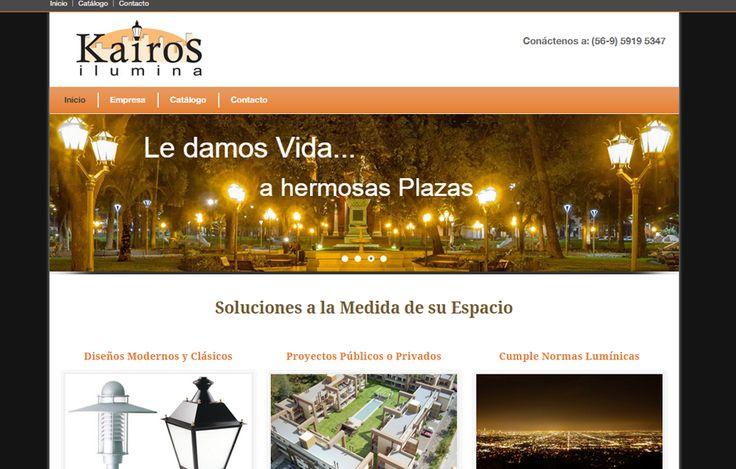 Sitio web www.kairosilumina.cl para nuestro cliente Kairos Ilumina. Versión 2015.