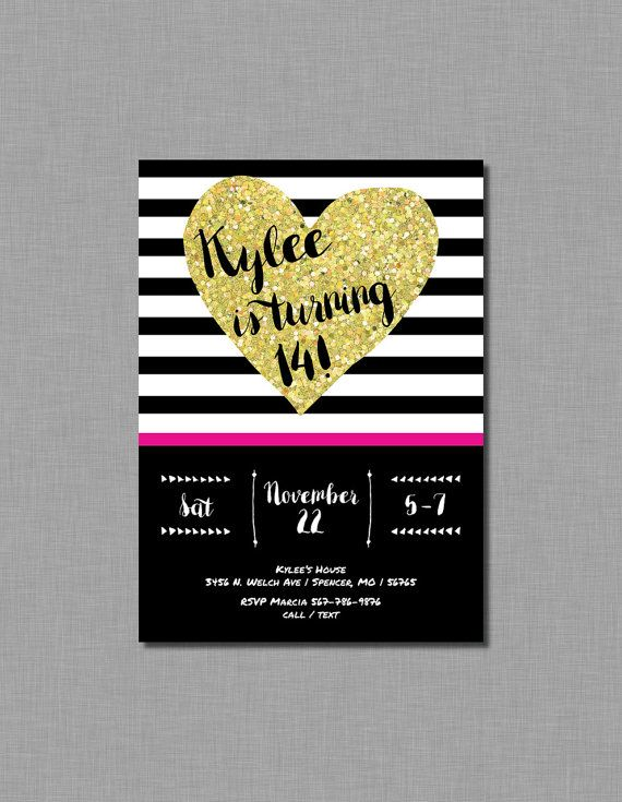 15 best invitations images – Teenage Girl Birthday Party Invitations