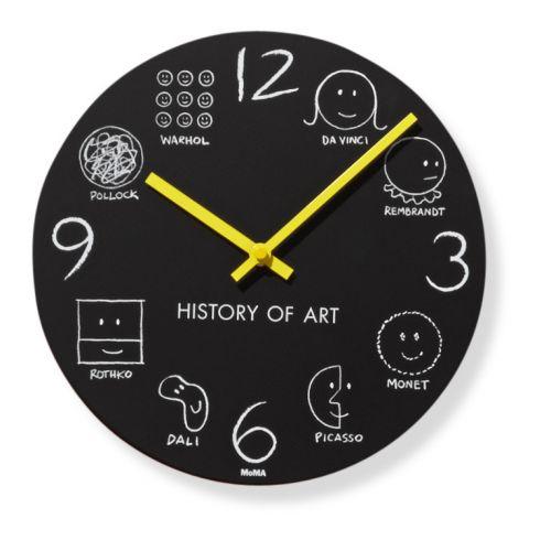 #Horloge murale de la collection History of Art conçue pour le #MoMa, illustrations par Donald #Seitz Prix 55 euros TTC #historyofart #kids #peintres