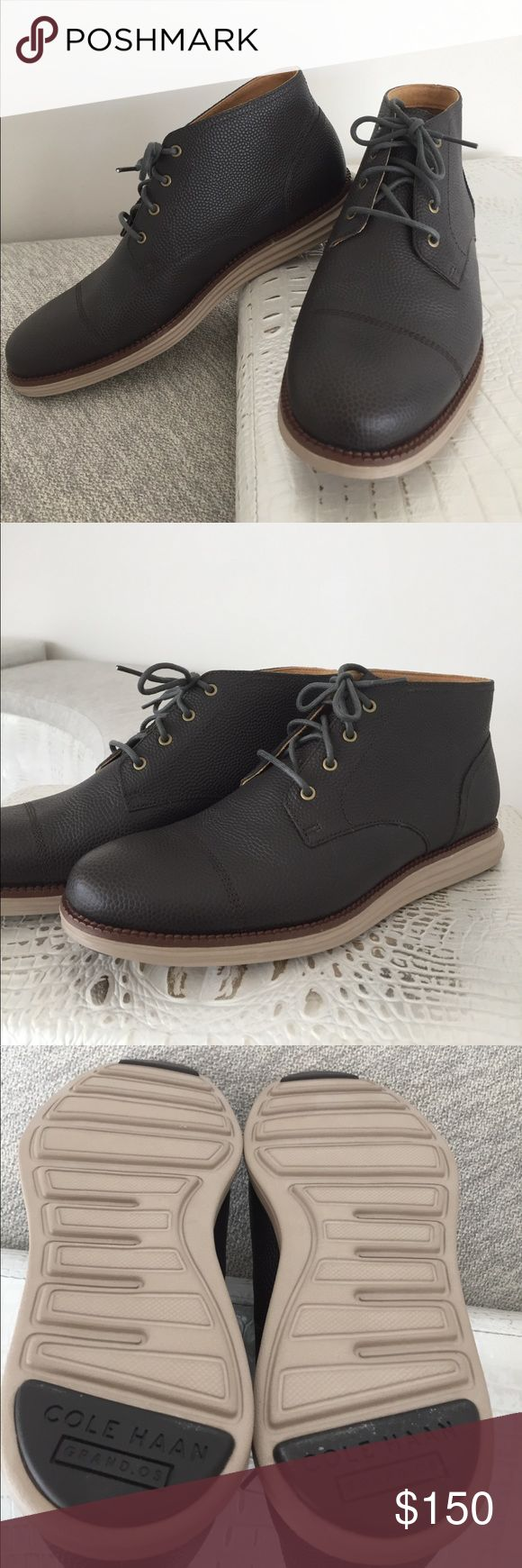 Cole Haan Men's Leather Chukka Boot Brand new, never worn!! Gorgeous pebbled leather Chukka boot in dark espresso! Lined inside with suede and canvas.  Rubber sole.Size 8 1/2M. No box Cole Haan Shoes Chukka Boots