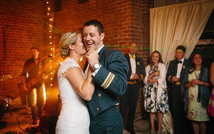 Bride and groom at first dance at Herefordshire wedding