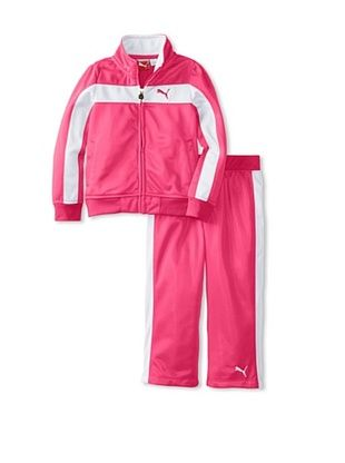 60% OFF Puma Girl's Print Colorblock Stripe Tricot Set (Fuchsia/Purple)