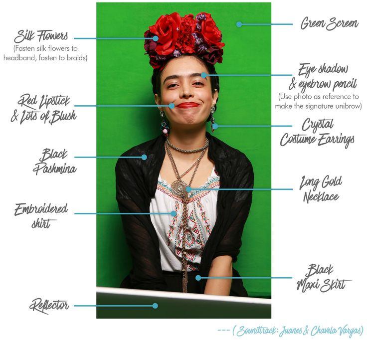 DIY Frida Kahlo costume                                                                                                                                                      More