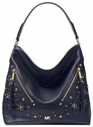 a0ef1f49bd36 Michael Kors Floral Embellished Pebbled Admiral Leather Shoulder Bag -  Tradesy  WomensShoulderbags