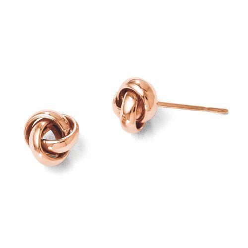14k Rose Gold Post Earrings