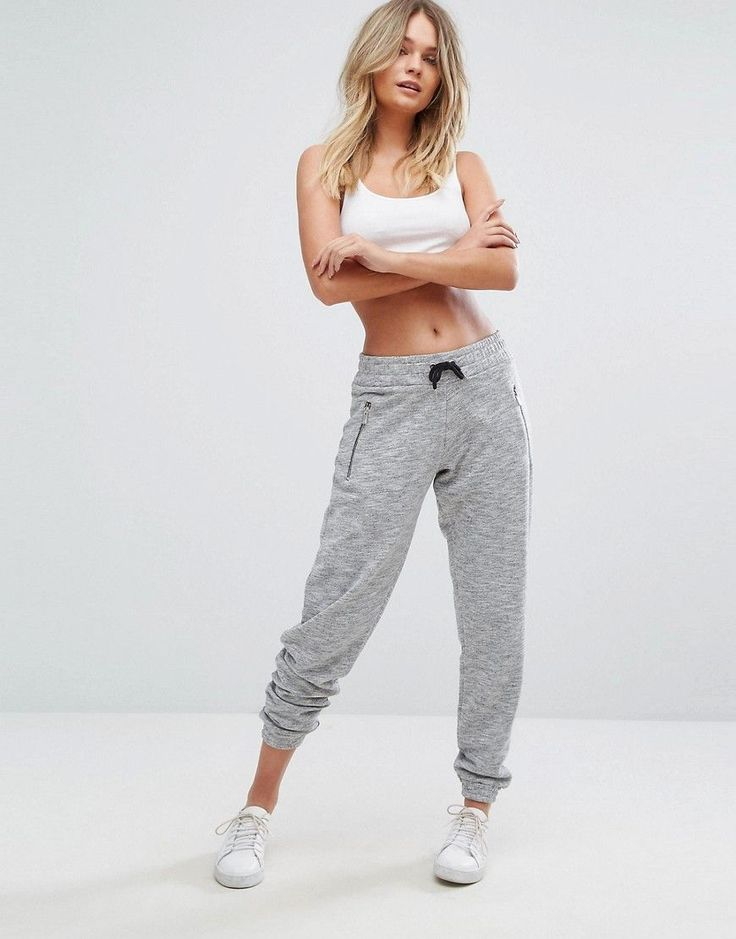 Buy it now. New Look Fleck Joggers - Grey. Sweatpants by New Look, Soft-touch sweat, Flecked finish, Drawstring waistband, Zip pockets, Fitted cuffs, Regular fit - true to size, Machine wash, 61% Polyester, 39% Cotton, Our model wears a UK 8/EU 36/US 4 and is 170cm/5'7 tall. Transforming the coolest looks straight from the catwalk into wardrobe staples, New Look joins the ASOS round up of great British high street brands. Get it or regret it with its weekly drops of essential coats…