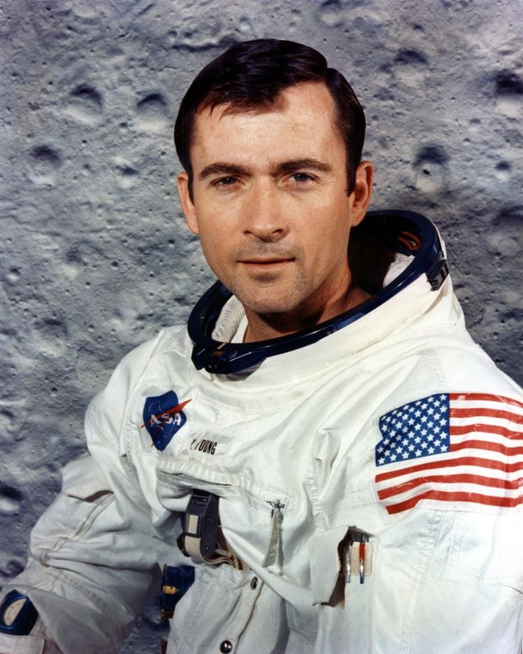 """""""Anyone who sits on top of the largest hydrogen-oxygen fueled system in the world, knowing they're going to light the bottom, and doesn't get a little worried, does not fully understand the situation."""" —John Young, after being asked if he was nervous about making the first Space Shuttle flight in 1981. Picture during the preparation for Apollo 10 mission"""