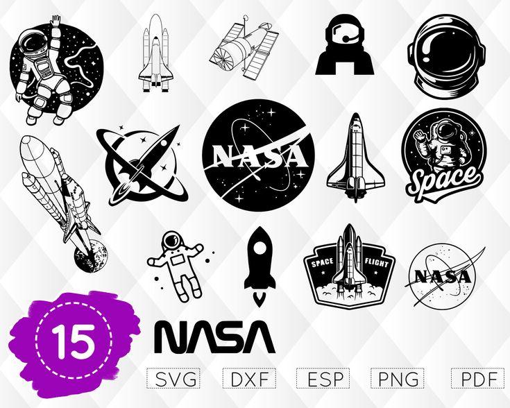 NASA SVG, Space Clipart, Astronaut Svg, Nasa Cricut, Nasa