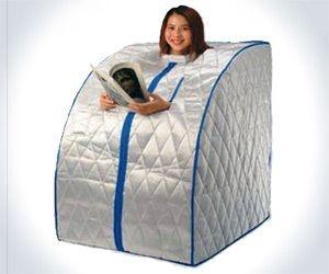 Portable Sauna -- I can sooooo imagine you with one of these! Lol