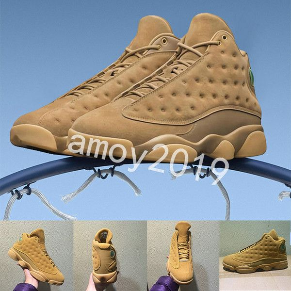 separation shoes 710b7 ff1b6 2018 New Men Wheat 13 Basketball Shoes Olive Altitude ...