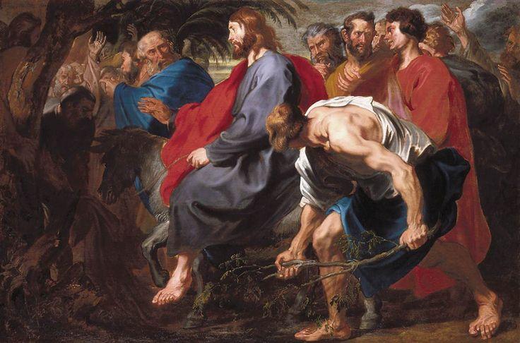 Антонис ван Дейк. Вход Господень в Иерусалим.  Вход Господень в Иерусалим Антонис ван Дейк 1617