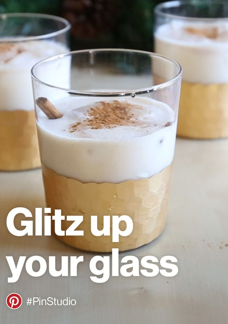 Glitz up your glass with a recipe for a coquito. Discover more ideas for holiday in our gift guide. https://www.pinterest.com/pinpicks/