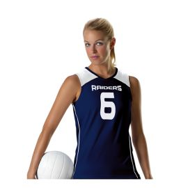 ALLESON MICROKNIT COLOR BLOCK WOMENS VOLLEYBALL JERSEY - 828VTJ