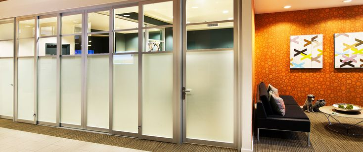 Space plus a division of the sliding door company Office partition walls with doors