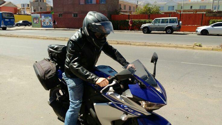 Equipamiento de viaje Yamaha R3.