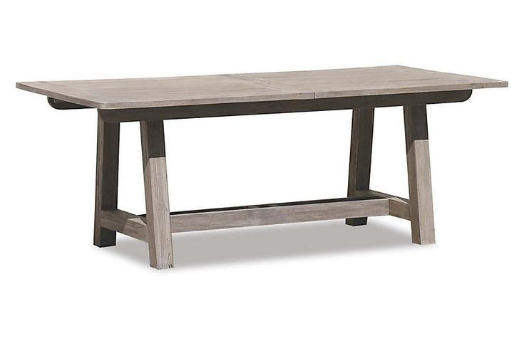 """Olivia Outdoor 79-118"""" Dining Table - Gray - Sunset West"""