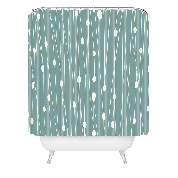 Mid Century Shower Curtain Part - 23: Heather Dutton Entangled Shower Curtain. Midcentury ...