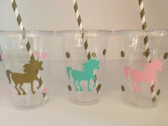 Tazas de fiesta Unicornio unicornio la fiesta de cumpleaños