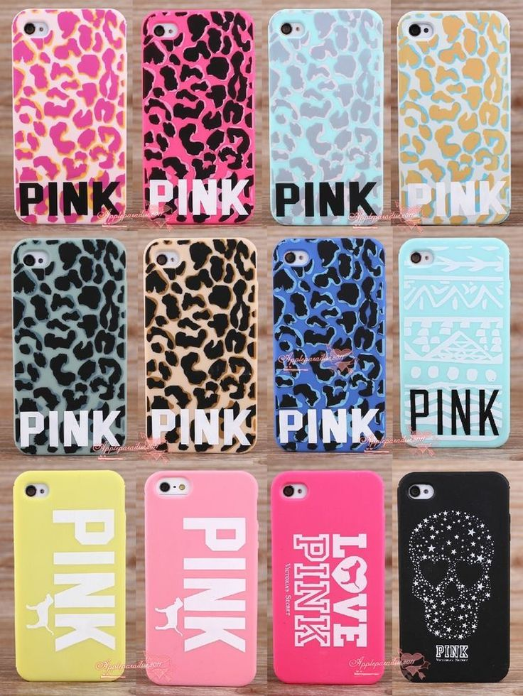 Victoria's Secret PINK Leopard Skull Silicone Soft Rubber Case For iPhone
