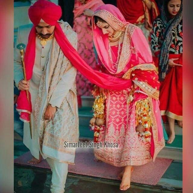 Sikh bridal couple