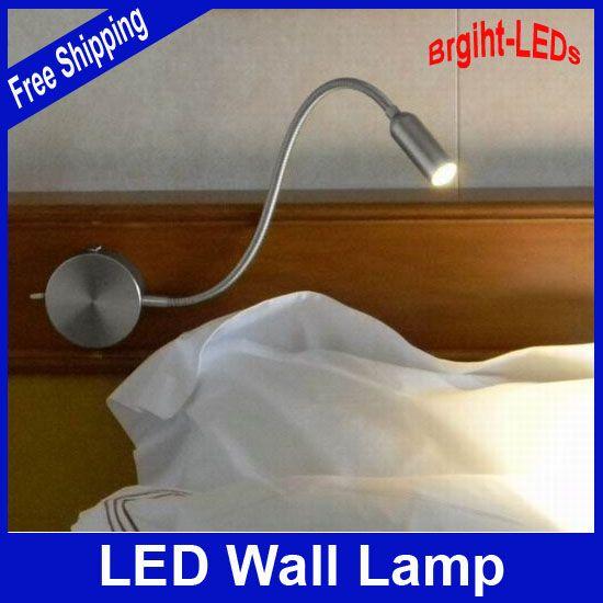 Розничная 100% Гарантированное Качество Металла сделать, 3 Вт стены LED лампа для чтения для дома или в гостинице... украшения