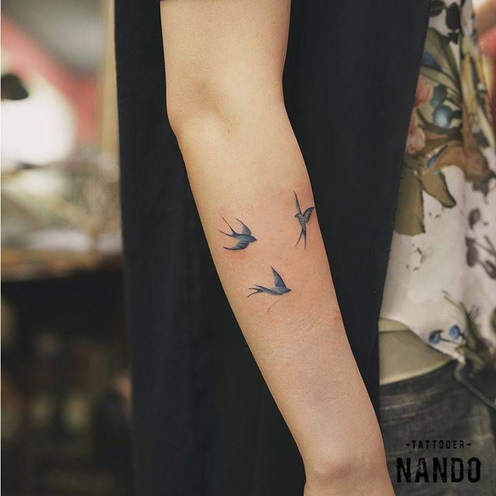Simbología de tatuajes: golondrinas
