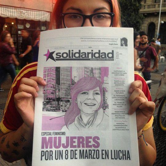 Apoyando en la marcha (en Santiago, Chile)