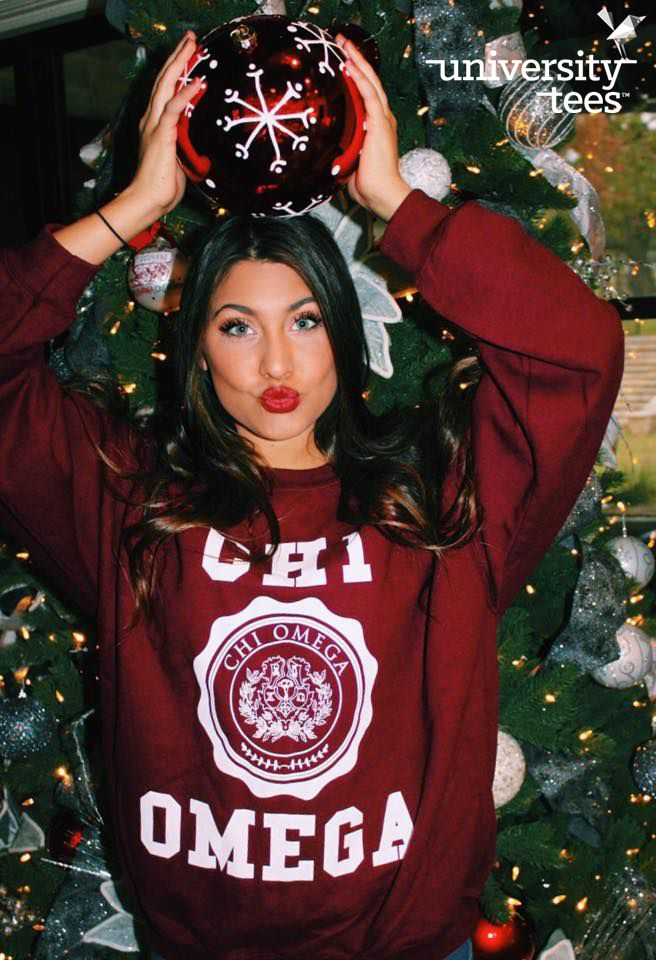 Tis the season | Chi Omega | Made by University Tees | universitytees.com