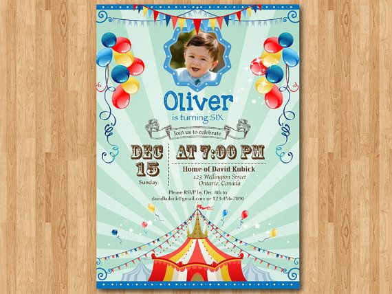 Hey, I found this really awesome Etsy listing at https://www.etsy.com/listing/183802532/circus-birthday-invitation-carnival
