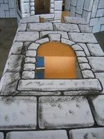 Follow the instructions below to find out how to paint realistic castle texture.