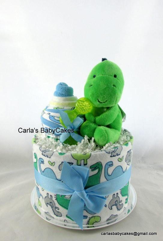 Dinosaur diaper cake Boy diaper cake Dinosaur baby shower