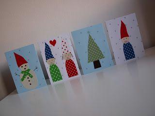 Fabric Scraps Christmas Card