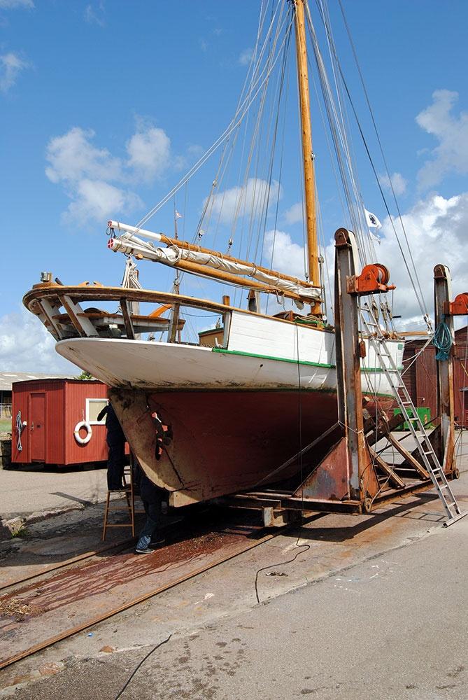 Spring preparations in Holbæk's old harbor (Photo: Simon Drost)