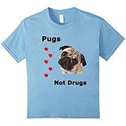 Pugs Not Drugs - Kids 12 - Baby Blue