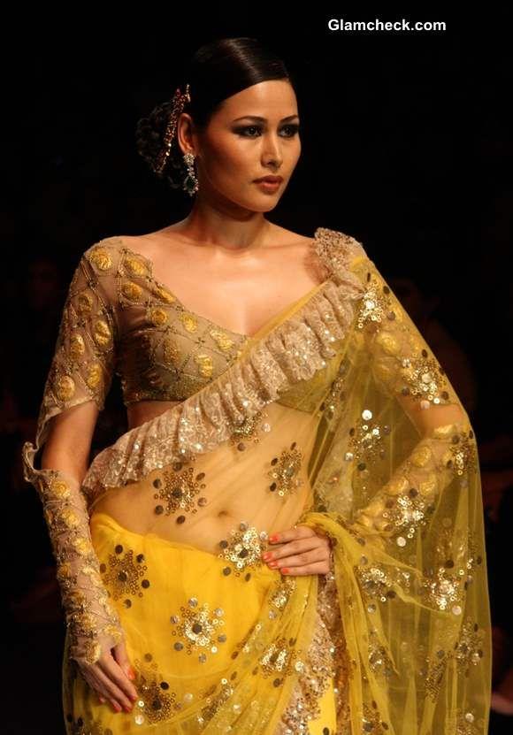 Ruffled Sarees - Rina Dhaka Collection | Indian Bridal ...