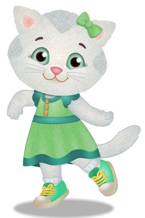 Katerina Kittycat is on DANIEL TIGER'S NEIGHBORHOOD.