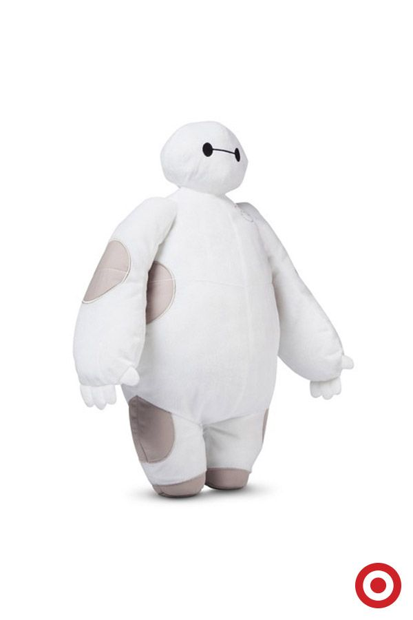 The bigger the Baymax, the better the hugs. Fans of Disney's Big Hero 6 and the squishy, loving robot Baymax will find this plush pillow as the perfect companion for family movie nights.