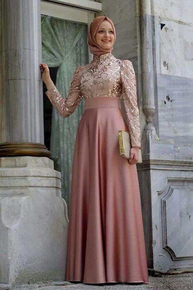 نصائح هامة لارتداء الفستان السواريه بأناقة مع الحجاب