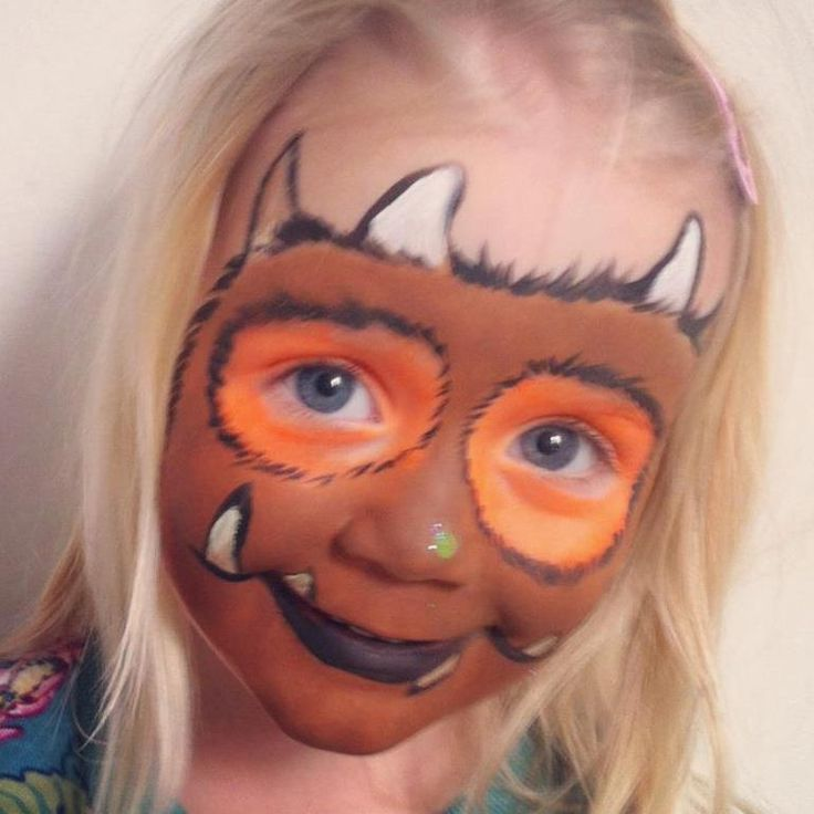 The Gruffalo face painting idea