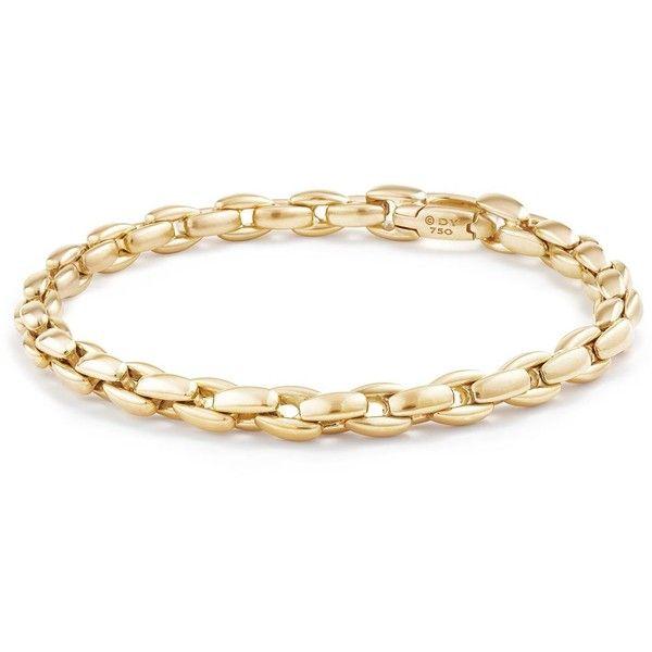 David Yurman Men's Elongated Box Chain Bracelet in 18K Gold ($3,400) ❤ liked on Polyvore featuring men's fashion, men's jewelry, men's bracelets, gold, mens 18k gold bracelets, mens watches jewelry, mens gold box chain, mens yellow gold bracelets and david yurman mens bracelets