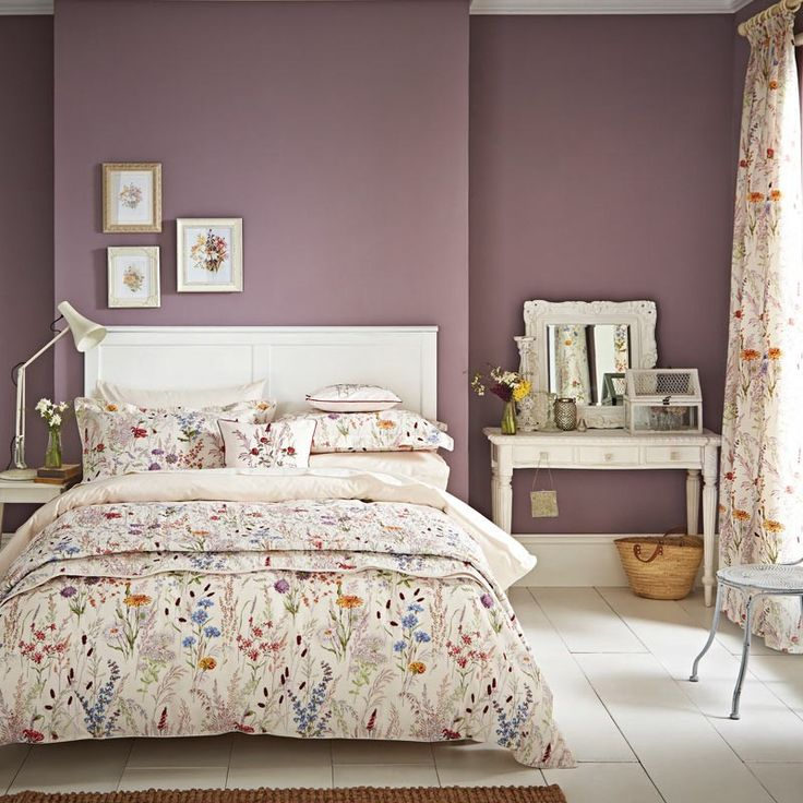 Blythe Meadow Ornate Floral Bedding by V&A at Bedeck Home