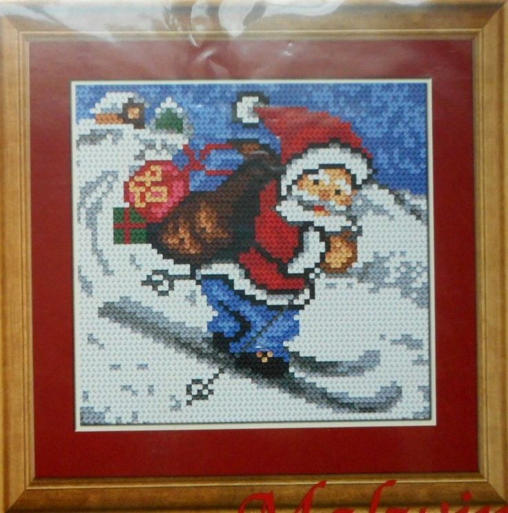 "NEEDLEPOINT TAPESTRY KIT, CHRISTMAS, 5,9 x 5,9"", REF AR509 #ariadna"